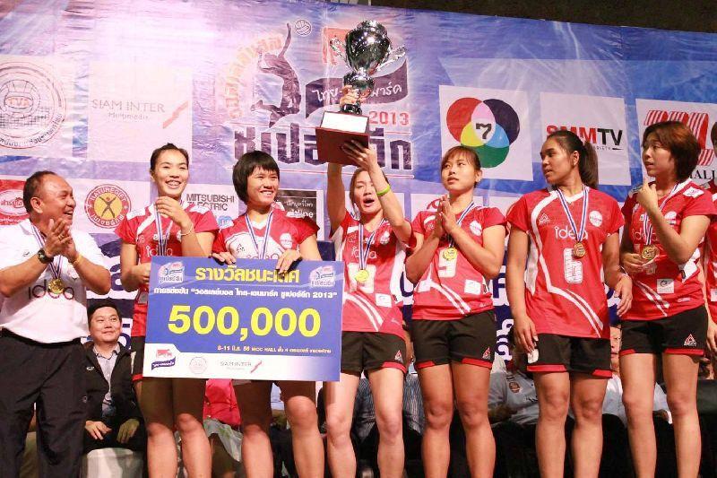 นุศรา ต้อมคำ มาร่วมทีมไอเดียขอนแก่น และ พาทีมคว้าแชมป์ไทยเดนมาร์คซูเปอร์ลีกปี 2013