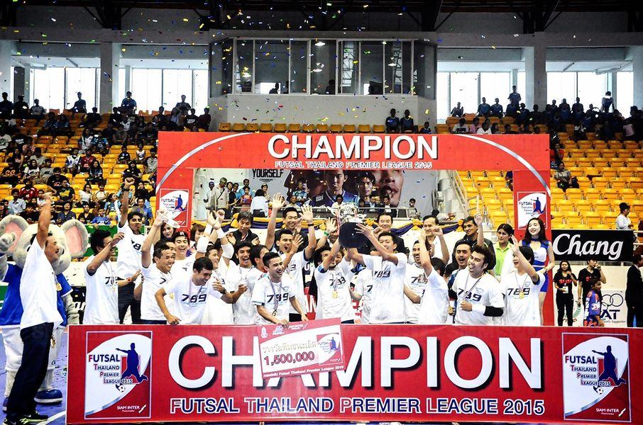 ชลบุรี บลูเวฟ คว้าแชมป์ฟุตซอล ไทยแลนด์ พรีเมียร์ลีก 2015